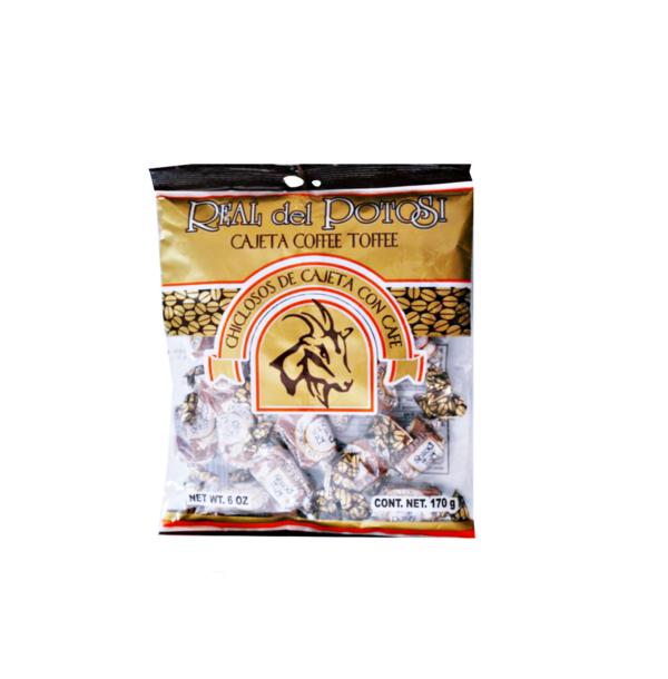 Dulces de Cajeta, sabor café. Real del Potosí 170 g AZTEK